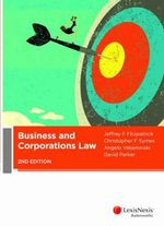 Business and Corporations Law - Jeff Fitzpatrick