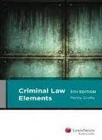 Criminal Law Elements - Penny Crofts