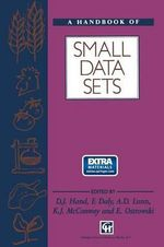 A Handbook of Small Data Sets : Chapman & Hall Statistics Texts - David J. Hand