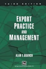 Export Practice and Management - Alan E. Branch
