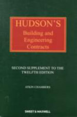 Hudson's Building and Engineering Contracts : 2nd Supplement - Atkin Chambers
