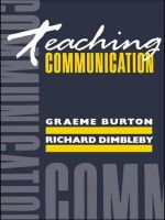 Teaching Communication - Richard Dimbleby