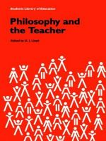 Philosophy and the Teacher : Overview of the New Physics