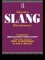 Shorter Slang Dictionary - Paul Beale