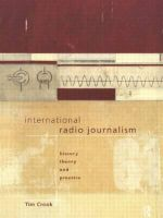 International Radio Journalism : The Australian Experience - Tim Crook