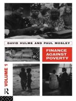 Finance Against Poverty : v.1 - David Hulme