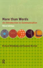More Than Words : Introduction to Communication - Richard Dimbleby