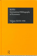 International Bibliography of Economics : Economics: 1998 - By The Compiled