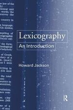 Lexicography : An Introduction - Howard Jackson
