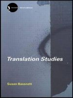Translation Studies : New Accents - Susan Bassnett-McGuire