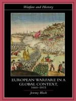 European Warfare in a Global Context, 1660-1815 : Warfare and History - Jeremy Black