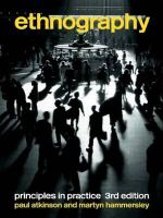 Ethnography : Principles in Practice - Paul Atkinson