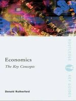 Economics : the Key Concepts - Donald Rutherford