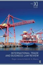 International Trade and Business Law Review : v. 11