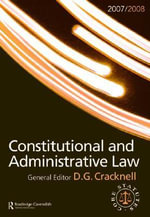 Constitutional and Administrative Law Statutes 2008-2009 : Routledge-Cavendish Core Statutes Series