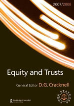 Equity and Trusts Statutes 2008-2009 : Routledge-Cavendish Core Statutes Series
