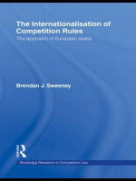 The Internationalisation of Competition Rules : Engaging Holocaust Theology - Brendan J. Sweeney