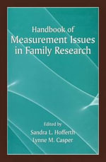 Handbook of Measurement Issues in Family Research : Transitions To Early Adulthood of Inner-City Adole...