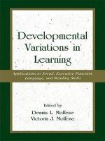 Developmental Variations in Learning : Applications to Social, Executive Function, Language, and Reading Skills