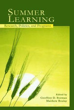 Summer Learning : Research, Policies, and Programs