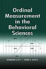 Ordinal Measurement in the Behavioral Sciences - Norman Cliff