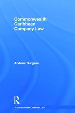 Commonwealth Caribbean Company Law : Merger Control in European and Global Perspective - Andrew Burgess
