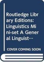 Routledge Library Editions : Linguistics Mini-set A