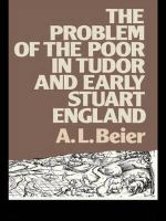 The Problems of the Poor in Tudor and Early Stuart England : The Transformation of English Working-Class Health... - Lucinda McCray Beier