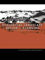 Ecological Landscape Design and Planning : The Mediterranean Context - Gloria Pungetti