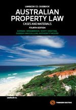 Australian Property Law : Cases and Materials - Adrian J. Bradbrook