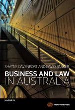 Business and Law in Australia - Shayne Davenport