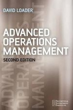 Advanced Operations Management : Securities Institute - David Loader