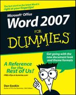 Word 2007 For Dummies : For Dummies (Lifestyles Paperback) - Dan Gookin