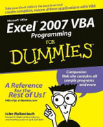 Excel 2007 VBA Programming For Dummies : Mr. Spreadsheet's Bookshelf - John Walkenbach