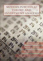 Modern Portfolio Theory and Investment Analysis - Edwin J. Elton