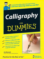 Calligraphy For Dummies : For Dummies - Jim Bennett