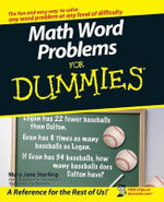 Math Word Problems For Dummies - Mary Jane Sterling