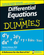 Differential Equations For Dummies : For Dummies - Steven Holzner