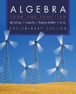 College Algebra : Form and Function - William G. McCallum