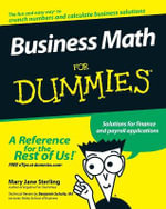 Business Math For Dummies : For Dummies - Mary Jane Sterling