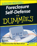 Foreclosure Self-Defense For Dummies : For Dummies (Lifestyles Paperback) - Ralph R. Roberts