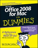 Office 2008 For Mac For Dummies : For Dummies - Bob LeVitus