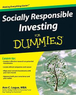 Socially Responsible Investing For Dummies : For Dummies - Ann C. Logue