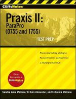 CliffsNotes Praxis II : Parapro (0755 and 1755) - Sandra Luna McCune