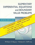 Elementary Differential Equations and Boundary Value Problems, Ninth Edition Binder Ready Version - William E Boyce