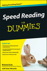 Speed Reading For Dummies - Richard Sutz