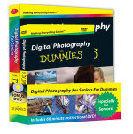 Digital Photography For Seniors For Dummies DVD+Book Bundle  - Mark Justice Hinton