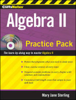 CliffsNotes Algebra II Practice Pack : CliffsNotes (Paperback) - Mary Jane Sterling