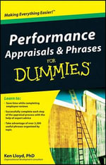 Performance Appraisals And Phrases For Dummies - Ken Lloyd