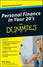 Personal Finance in Your 20s For Dummies : For Dummies (Lifestyles Paperback) - Eric Tyson